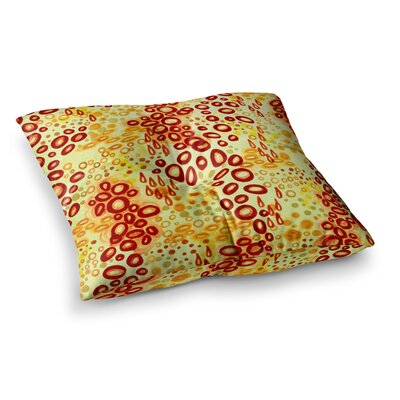 Circular Persuasion by Ebi Emporium Floor Pillow Size: 26 x 26, Color: Yellow/Brown