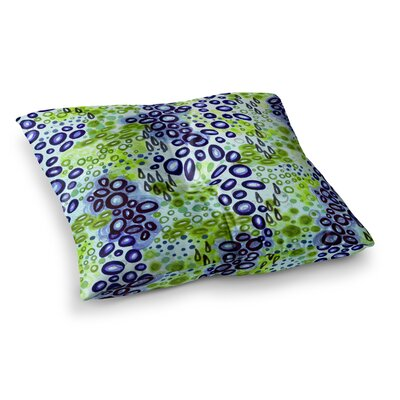 Circular Persuasion by Ebi Emporium Floor Pillow Size: 26 x 26, Color: Green/Blue