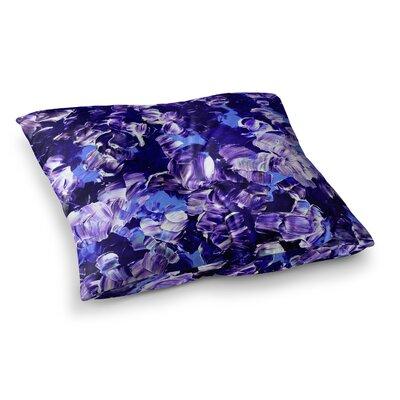 Floral Fantasy by Ebi Emporium Floor Pillow Size: 23 x 23, Color: Purple