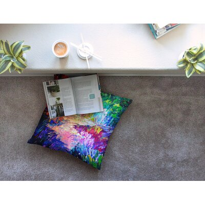 Welcome to Utopia Rainbow by Ebi Emporium Floor Pillow Size: 26 x 26