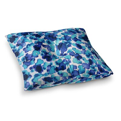 Giraffe Spots by Ebi Emporium Floor Pillow Size: 26 x 26, Color: Blue