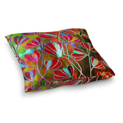 Efflorescence by Ebi Emporium Floor Pillow Size: 23 x 23, Color: Pink/Rainbow