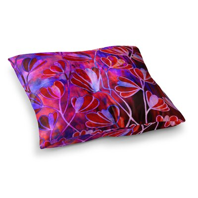 Efflorescence by Ebi Emporium Floor Pillow Size: 23 x 23, Color: Pink/Purple