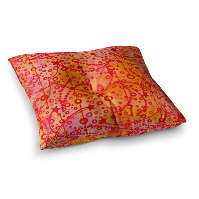 Make a Wish by Ebi Emporium Floor Pillow Size: 23 x 23, Color: Red/Orange