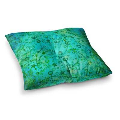 Make a Wish by Ebi Emporium Floor Pillow Size: 23 x 23, Color: Teal/Green