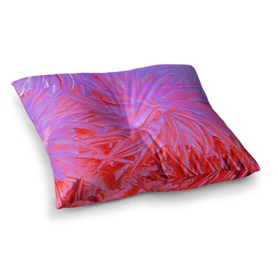 Water Flowers Crimson by Ebi Emporium Floor Pillow Size: 23 x 23