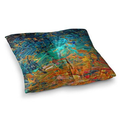 Eteranl Tide II by Ebi Emporium Floor Pillow Size: 23 x 23