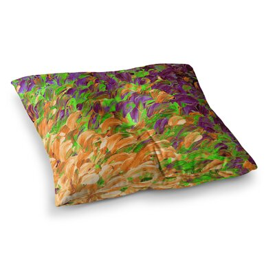Follow the Current by Ebi Emporium Floor Pillow Size: 23 x 23, Color: Orange/Green