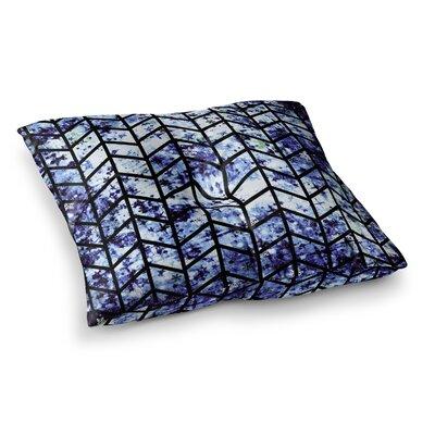 Chevron Wonderland by Ebi Emporium Floor Pillow Size: 26 x 26, Color: Blue/Black