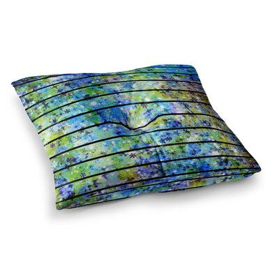 Stripes and Snowflakes by Ebi Emporium Floor Pillow Size: 23 x 23