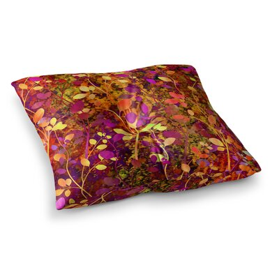 Amongst the Flowers Warm Sunset by Ebi Emporium Floor Pillow Size: 23 x 23