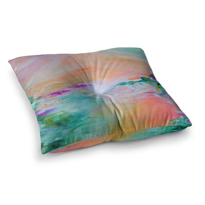 Something About the Sea 4 by Ebi Emporium Floor Pillow Size: 23 x 23