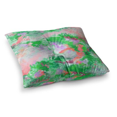 When We Were Mermaids by Ebi Emporium Floor Pillow Size: 26 x 26, Color: Pink/Green