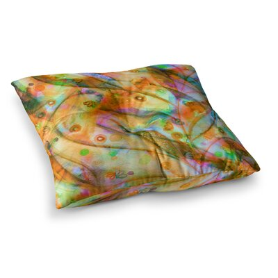 Flourish by Ebi Emporium Floor Pillow Size: 23 x 23, Color: Orange/Yellow