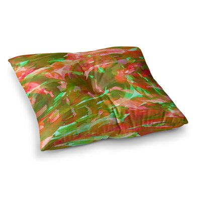 Motley Flow by Ebi Emporium Floor Pillow Size: 23 x 23, Color: Red/Green/Purple