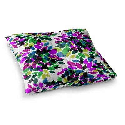 Dahlia Dots by Ebi Emporium Floor Pillow Size: 26 x 26, Color: Green/Purple
