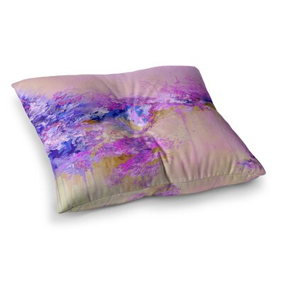 When Land Met Sky by Ebi Emporium Floor Pillow Size: 26 x 26, Color: Pink/Purple