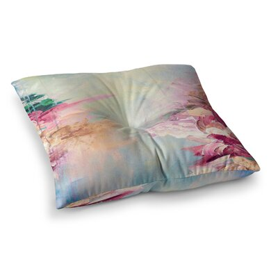 Winter Dreamland by Ebi Emporium Floor Pillow Size: 26 x 26, Color: Blue/Maroon