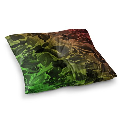 Blossoms Unchained 3 by Ebi Emporium Floor Pillow Size: 26 x 26