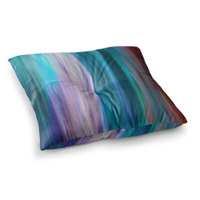 Irradiated by Ebi Emporium Floor Pillow Size: 26 x 26, Color: Teal