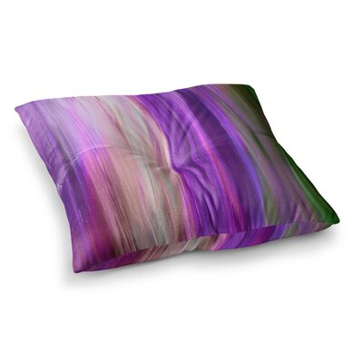 Irradiated by Ebi Emporium Floor Pillow Size: 23 x 23, Color: Purple
