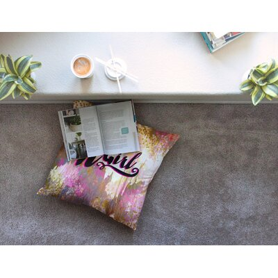 It Girl by Ebi Emporium Floor Pillow Size: 23 x 23