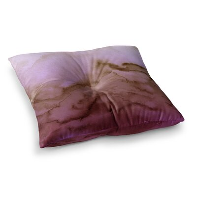 Winter Waves by Ebi Emporium Floor Pillow Size: 26 x 26, Color: Pink/Tan