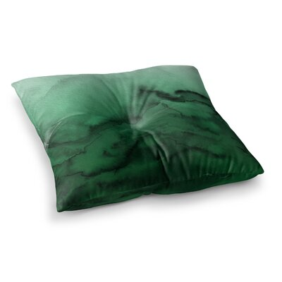 Winter Waves by Ebi Emporium Floor Pillow Size: 26 x 26, Color: Green/Black