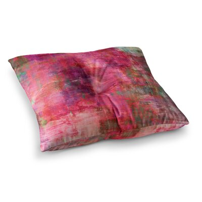 Into the Tropics Coral Love by Ebi Emporium Floor Pillow Size: 23 x 23