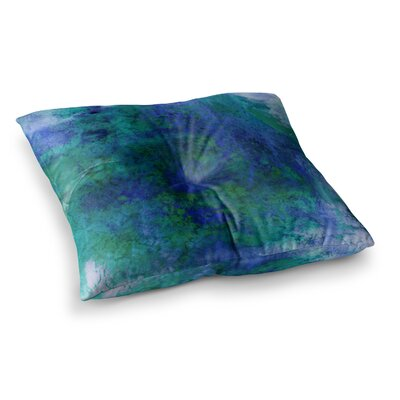 Epoch by Ebi Emporium Floor Pillow Size: 23 x 23, Color: Teal/Blue