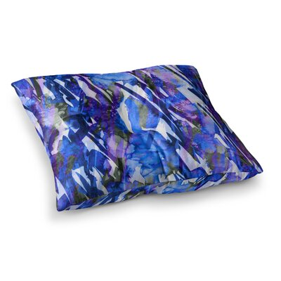 Frosty Bouquet by Ebi Emporium Floor Pillow Size: 26 x 26, Color: Blue/Purple