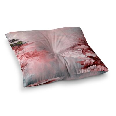 Winter Dreamland by Ebi Emporium Floor Pillow Size: 26 x 26, Color: Pink/Orange