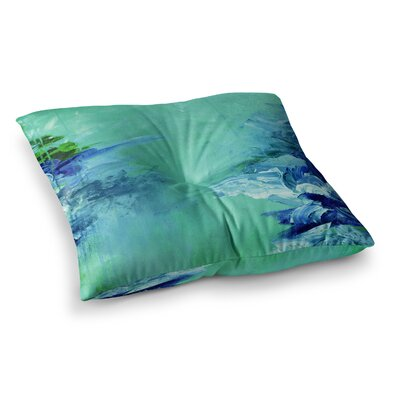 Winter Dreamland by Ebi Emporium Floor Pillow Size: 26 x 26, Color: Green/Blue