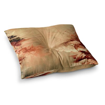Winter Dreamland by Ebi Emporium Floor Pillow Size: 26 x 26, Color: Orange/Maroon