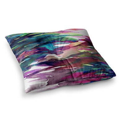 Fervor by Ebi Emporium Floor Pillow Size: 26 x 26, Color: Pink