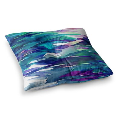 Fervor by Ebi Emporium Floor Pillow Size: 23 x 23, Color: Teal/Blue