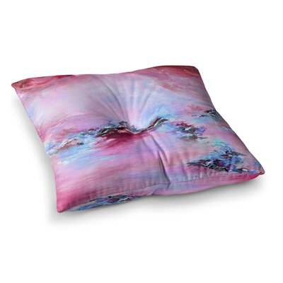 Sea to Sky 3 Abstract by Ebi Emporium Floor Pillow Size: 26 x 26