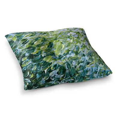 Frosted Feathers 3 by Ebi Emporium Floor Pillow Size: 23 x 23