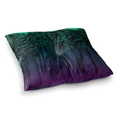 Forest Through the Trees by Ebi Emporium Floor Pillow Size: 26 x 26, Color: Purple/Black