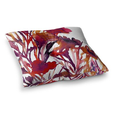 Pocket Full of Posies by Ebi Emporium Floor Pillow Size: 23 x 23
