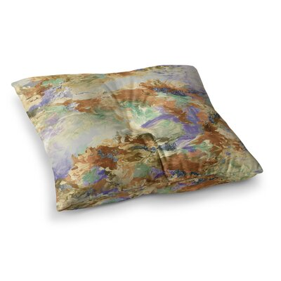 When We Were Mermaids by Ebi Emporium Floor Pillow Size: 23 x 23, Color: Lavender/Tan