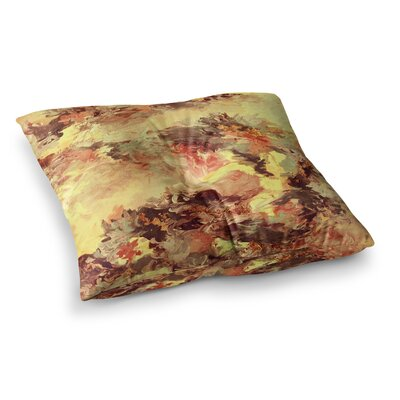 When We Were Mermaids by Ebi Emporium Floor Pillow Size: 23 x 23, Color: Yellow/Tan