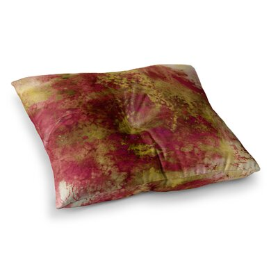 Epoch by Ebi Emporium Floor Pillow Size: 26 x 26, Color: Red/Green