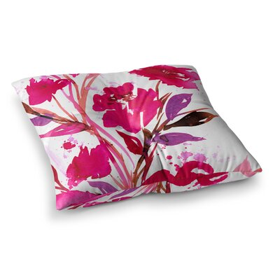 Pocket Full of Posies by Ebi Emporium Floor Pillow Size: 23 x 23, Color: Nature Pink