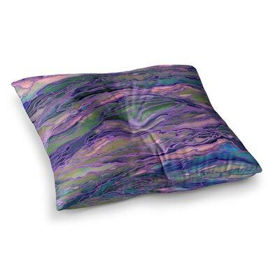 Marble Idea by Ebi Emporium Floor Pillow Size: 23 x 23, Color: Pink/Purple