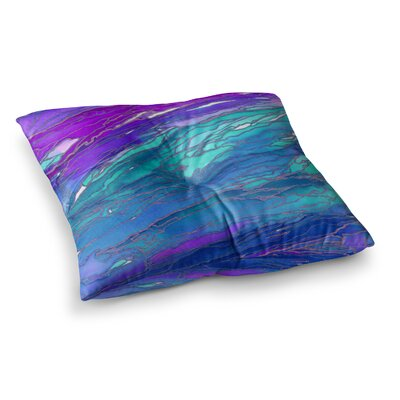 Agate Magic by Ebi Emporium Floor Pillow Size: 26 x 26, Color: Green/Purple/Aqua