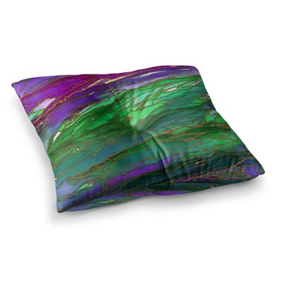 Agate Magic by Ebi Emporium Floor Pillow Size: 26 x 26, Color: Teal/Blue/Lavender