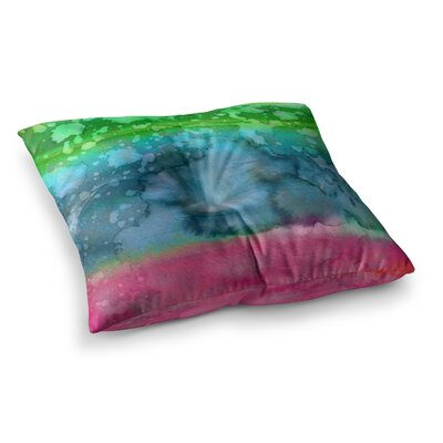 California Surf by Ebi Emporium Floor Pillow Size: 23 x 23, Color: Teal/Green/Pink