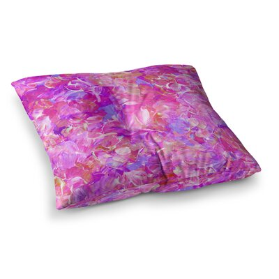 Bloom on! by Ebi Emporium Floor Pillow Size: 26 x 26, Color: Pink/Purple