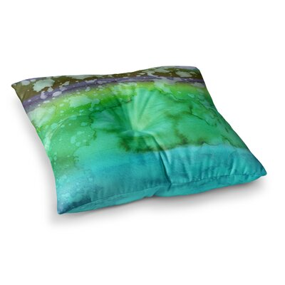 California Surf by Ebi Emporium Floor Pillow Size: 26 x 26, Color: Teal/Green